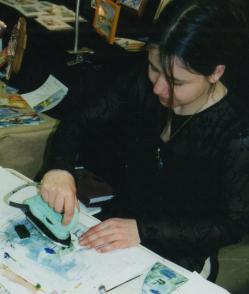 Doriane et son fer a peindre