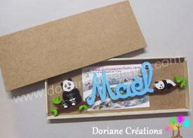 Emballage prenom en bois
