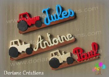 Foire de chalons 2016 nouveautes prenom en bois tracteur