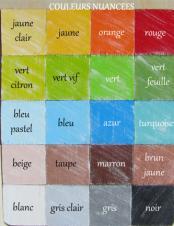 Nuancier des couleurs nuacees garcon