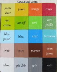 Nuancier des couleurs unies pour prenoms en bois garcons