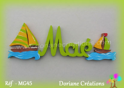 Prenom bois mae theme mer