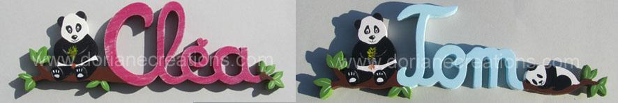 Prenom bois panda
