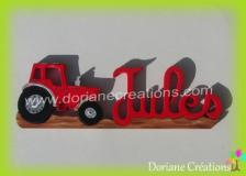 Prenom bois tracteur