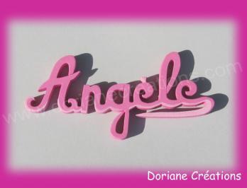 Prenom en bois angele