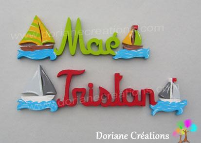 Prenom en bois bateaux