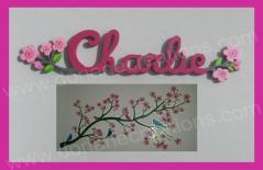 Prenom en bois charlie personnalise