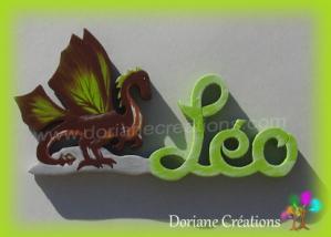 Prenom en bois dragon 1