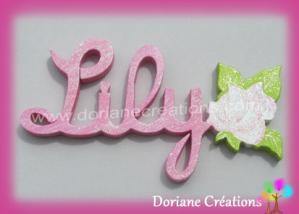 Prenom en bois rose 1