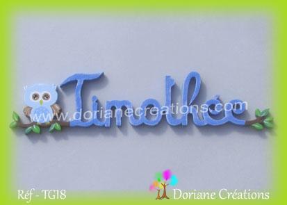 Prenom timothee en bois