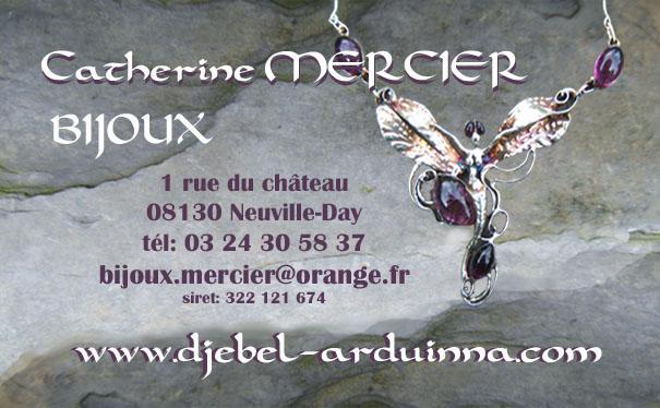 carte de visite bijoux Catherine Mercier