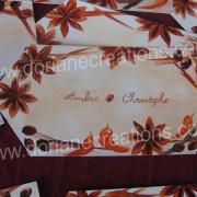 faire-part de mariage peint à l'encaustique, Ambre et Christophe 2008
