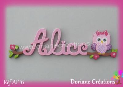 prénom-bois-Alice- chouette