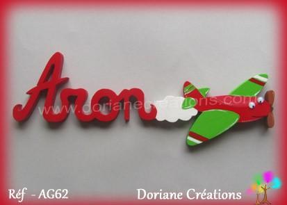 Prénom-bois-Aron-avion