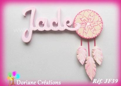 Prénom bois attrape-rêve Jade