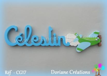 Prénom-bois-Célestin-avion