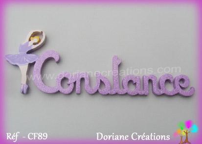 prénom bois Constance avec danseuse