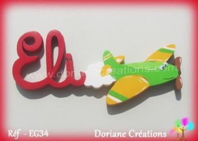 Prénom-bois-Eli-avion