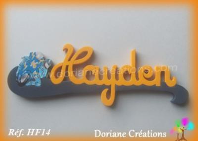 Prénom-bois-Hayden-moto