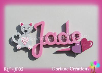 prénom-bois-Jade-chat