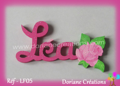 prénom-bois-Léa-rose