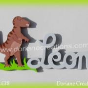 prénom-bois-Léon-T Rex