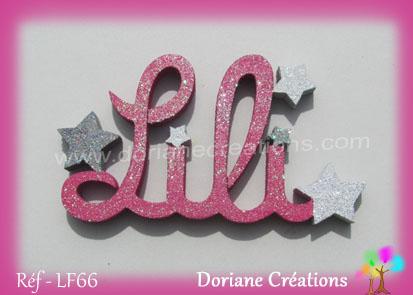 prénom-bois-Lili-étoiles