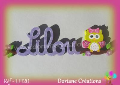 prénom-bois-Lilou-chouette