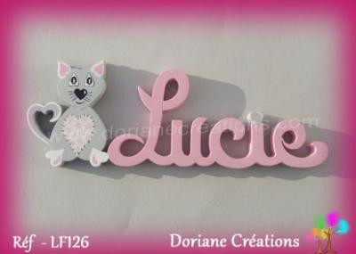 prénom-bois-Lucie-chat