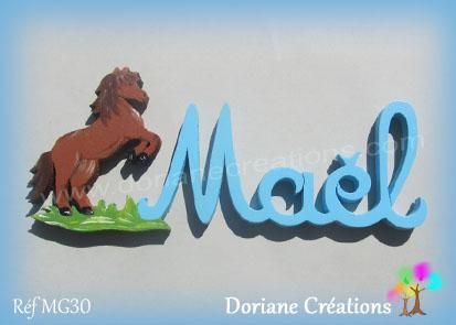 Prénom-bois-Maël-cheval cabré