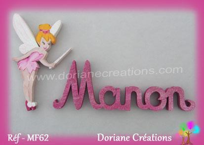 prénom-bois-Manon-avec-fée