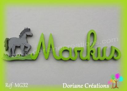 Prénom-bois-Markus-cheval