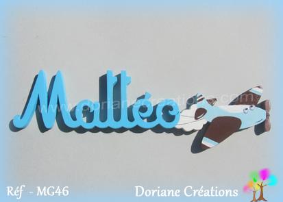 Prénom-bois-Mattéo-avion