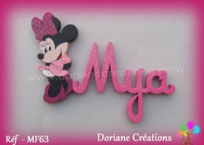 prénom-bois-Mya-avec-Minnie