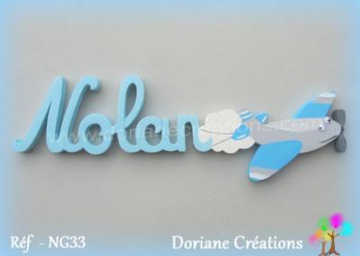 Prénom-bois-Nolan-avion