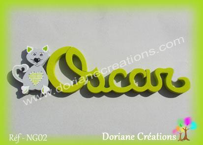 prénom-bois-Oscar-chat
