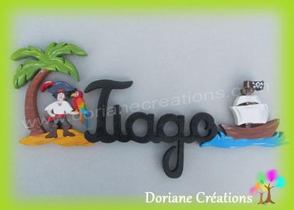 prénom  bois pirate Tiago