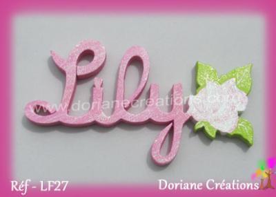 prénom-bois-rose-Lily
