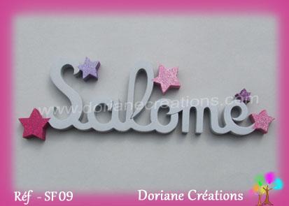 prénom-bois- Salomé-étoiles
