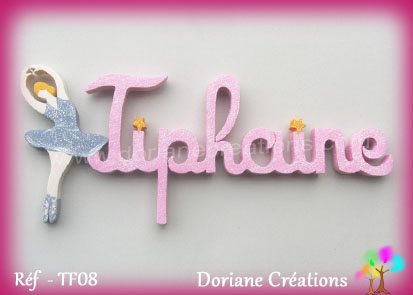 prénom bois Tiphaine avec danseuse