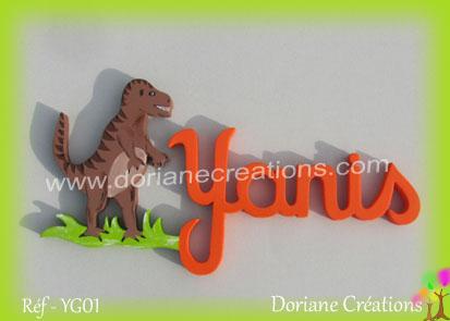 prénom-bois-Yanis-T Rex