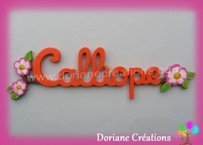 prénom bois églantines Calliope
