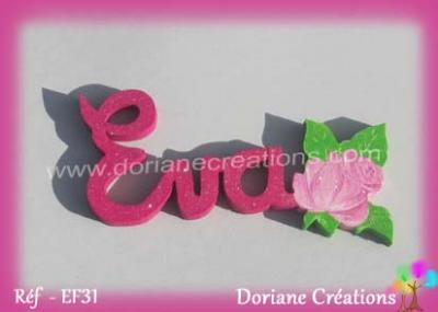 prénom-en-bois-Eva-rose