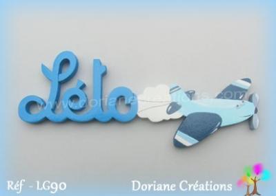 Prénom-bois-Léto-avion