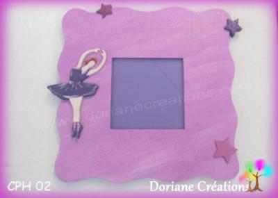 03- Cadre photo danseuse nuances violettes