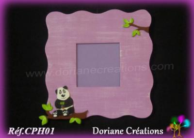 01- cadre photo parme avec décor panda