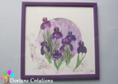 Cadre violet iris - 32,5x32,5cm