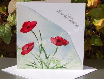04- carte anniversaire coquelicots peinte à la cire