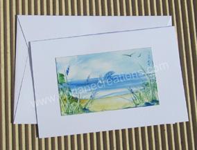 05- Carte classique peinte à l'encaustique dauphin