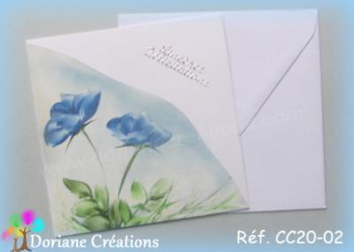 carte roses bleues  félicitations
